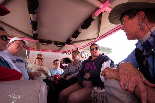 I was up front for the Jeep ride - this is the crew in the back, getting the briefing before our adventure.