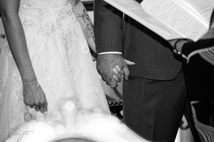 Handholding during the ceremony
