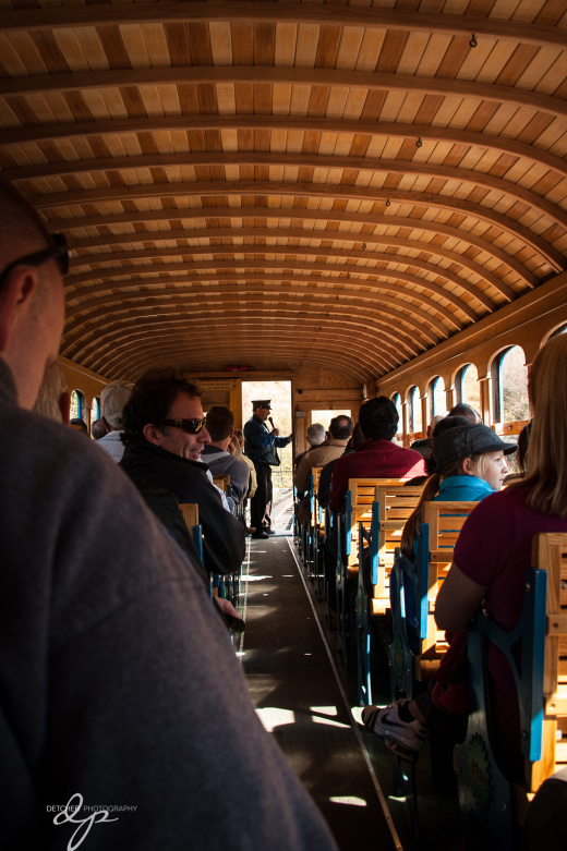 Inside the railcar