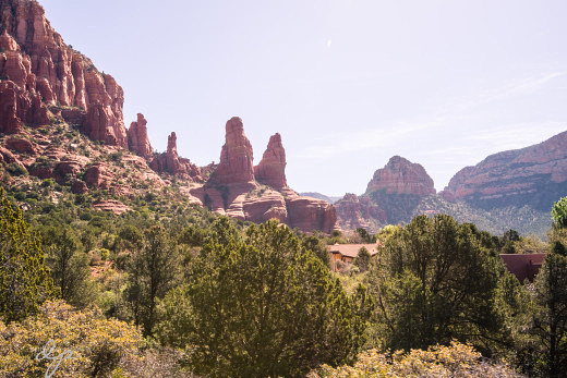 View of the Red Rocks from Chapel of the Holy Cross
